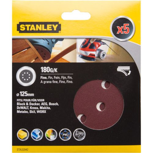 Disques abrasifs Stanley G180 12,5 cm - 5 pcs