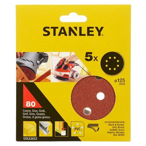Disques abrasifs Stanley G80 12,5 cm - 5 pcs