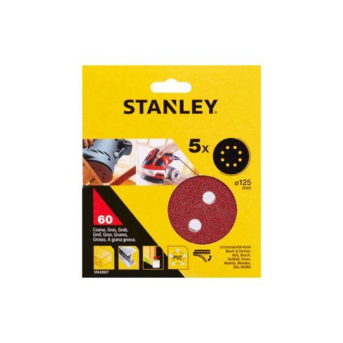 Disques abrasifs Stanley G60 12,5 cm - 5 pcs