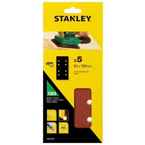 Abrasifs Stanley G120 190 x 93 mm - 5 pcs