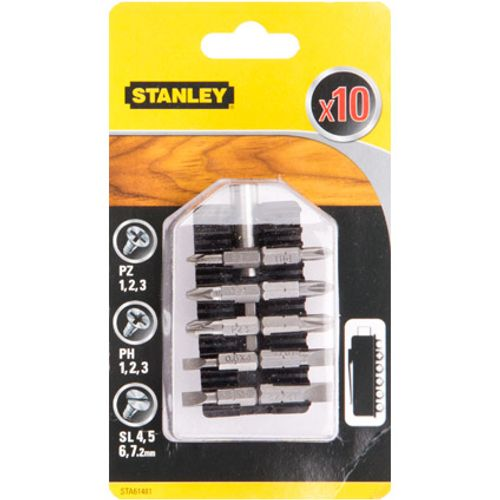 Set d'embouts Stanley 'STA61481-XJ' clip-on - 10 pcs