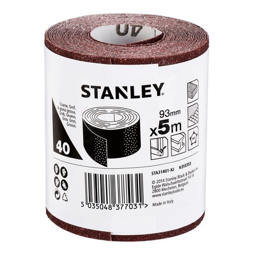 Rouleau de papier abrasif Stanley G40 500 x 9,3 cm