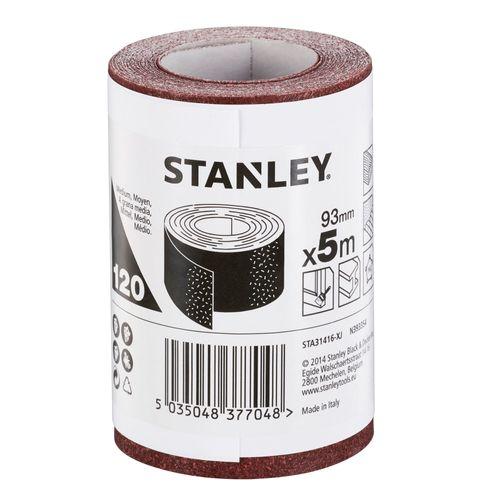 Stanley rol schuurpapier '120 k' 93 mm x 5 m