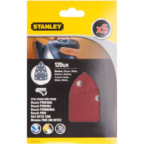 Feuilles abrasives Stanley G120 - 5 pcs