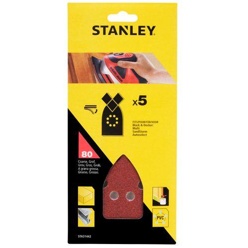 Abrasifs pointus Stanley G80 170 x 100 mm - 5 pcs