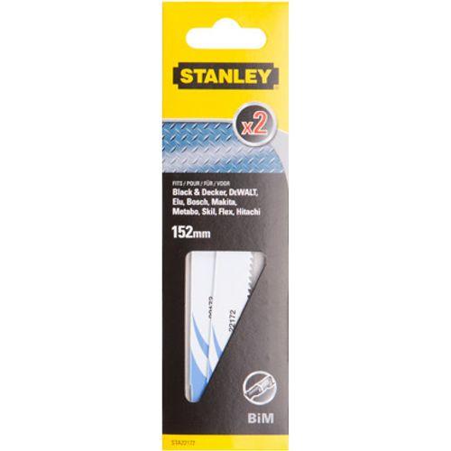 Lame de scie réciproque Stanley métal 152 mm - 2 pcs