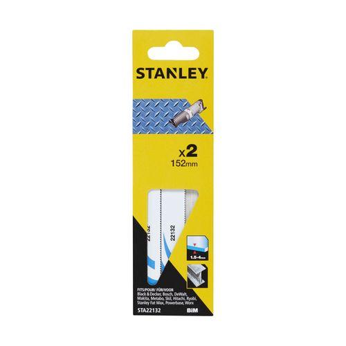Lame de scie réciproque Stanley métal fin 152 mm - 2 pcs