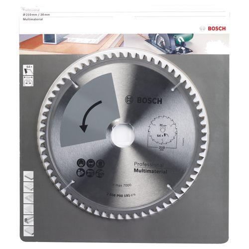 Lame de scie circulaire multi-matériaux Bosch Professional T64 210x2x40mm