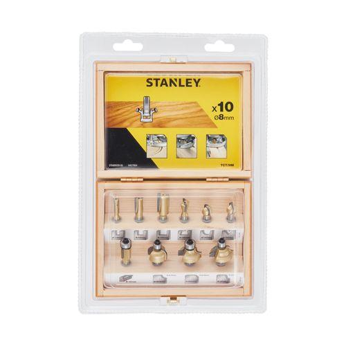 Stanley 10-delige fresenkit