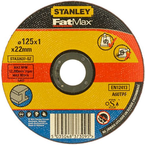 Disque à tronçonner Stanley 'FatMax' métal 125 mm