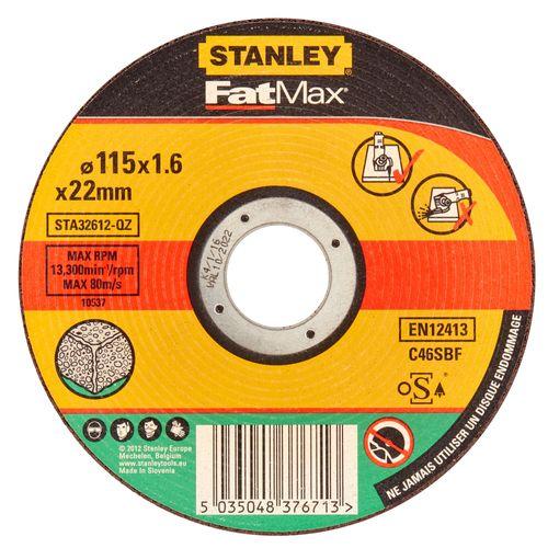 Disque à tronçonner Stanley 'FatMax' 115mm