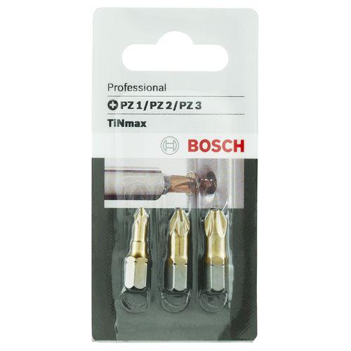 Bosch schroefbitset 'Profiline PZ1/2/3' - 3 stuks