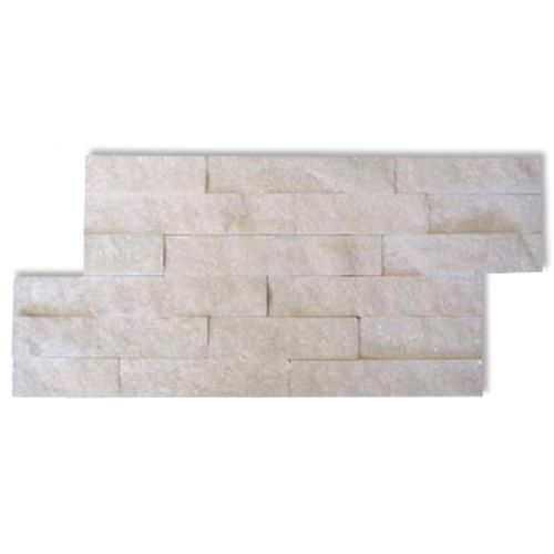 Plaquette de parement Decor 'Canyon' blanc 8 pcs