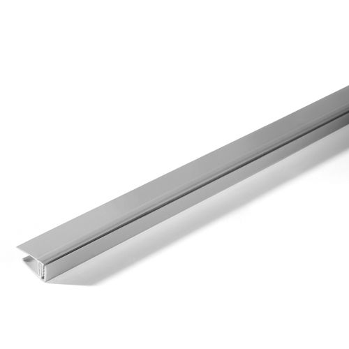 Profil de finition Grosfillex cliquable PVC gris 260cm