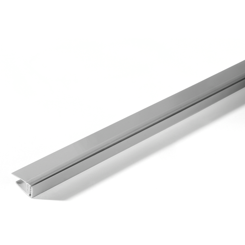 Grosfillex eindprofiel klipbaar PVC grijs 260cm