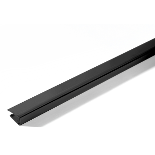 Grosfillex eindprofiel klipbaar PVC carbone 260cm