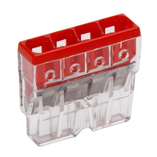 WAGO Steekklem 4x0,5-2,5mm² 10 stuks