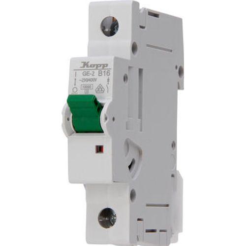 Installatie automaat 1-polig 16 ampere B-karakteristiek