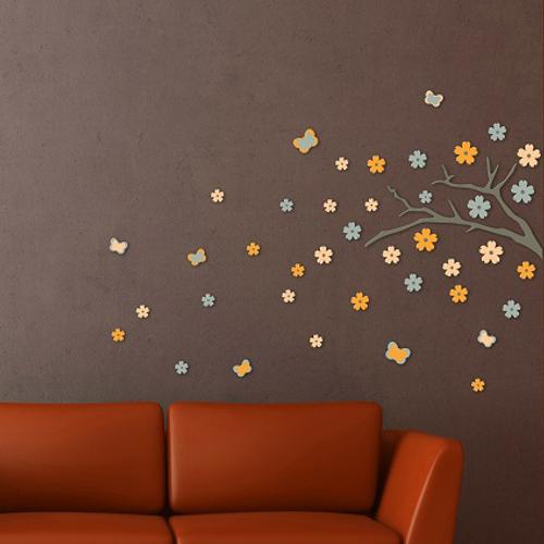 Crearreda sticker 3D schuim japanse tak 'L Foam' 47 x 70 cm