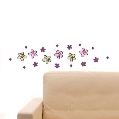 Crearreda sticker 3D schuim bloempjes 'S Foam' 15 x 31 cm