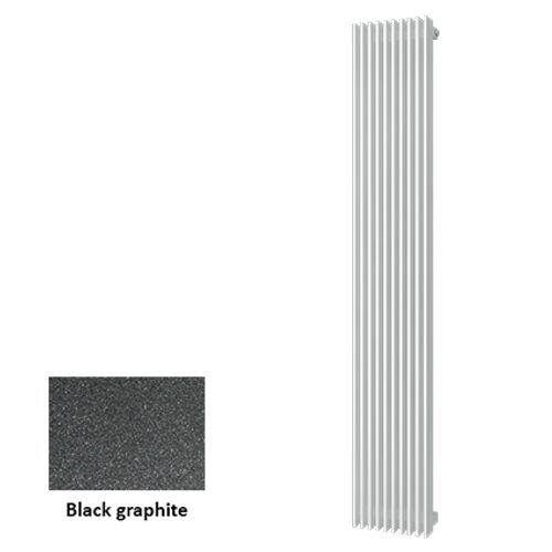Plieger designradiator Antika Retto black graphite 30cm