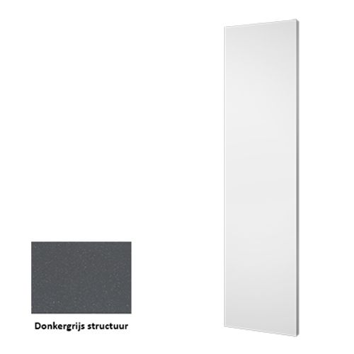 Plieger designradiator Perugia donkergrijs structuur 46cm