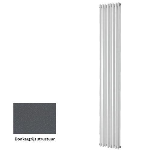 Plieger designradiator Venezia dubbel donkergrijs structuur 30cm