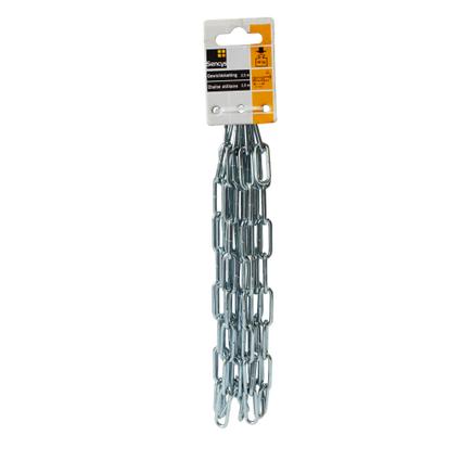 Sencys gewichtsketting staal zilver 3 mm x 2,5 m