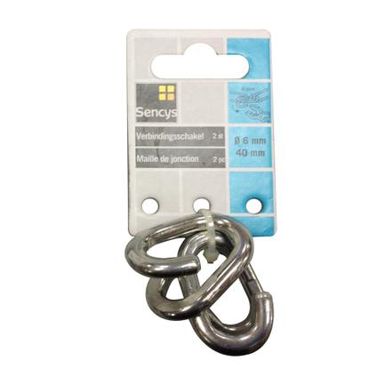 Sencys verbindingsschakel staal Ø 6 mm x 40m - 2 stuks