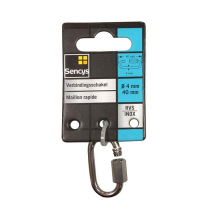 Sencys verbindingsschakel RVS Ø 4 mm x 40 mm