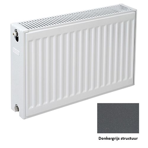 Plieger paneelradiator Compact 22 donkergrijs structuur 40 x 40 x 10,5cm
