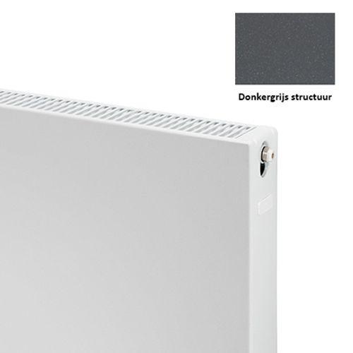 Plieger paneelradiator Compact vlak 22 donkergrijs structuur 40 x 120 x 10,5cm