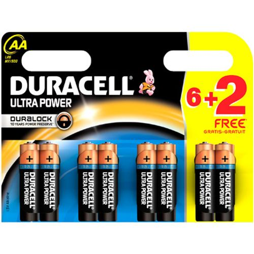 Pile alcaline Duracell Ultra Power 'AA - LR6' 1,5 V - 8 pcs