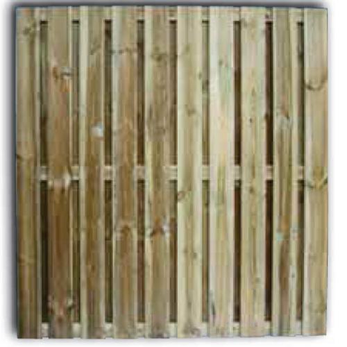 Tuinscherm robusto grenen getoogd 180x180cm