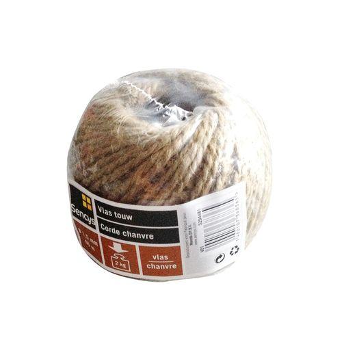 Sencys hennep koord bruin 1,5 mm x 65 m