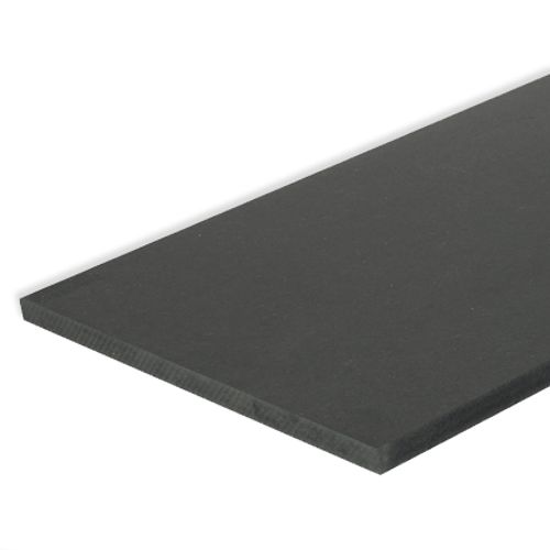 MDF-paneel zwart 244x122x1,8cm