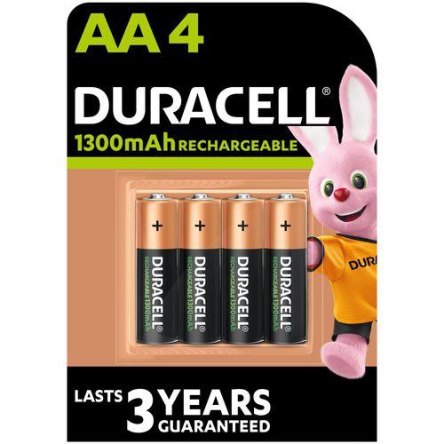 Pile rechargeable Duracell 'Recharge Plus' AA 1300mAh - 4 pcs