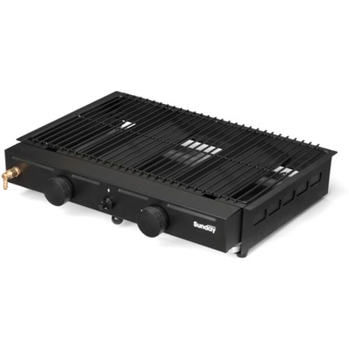 Betonnen barbecue gas grill unit duo