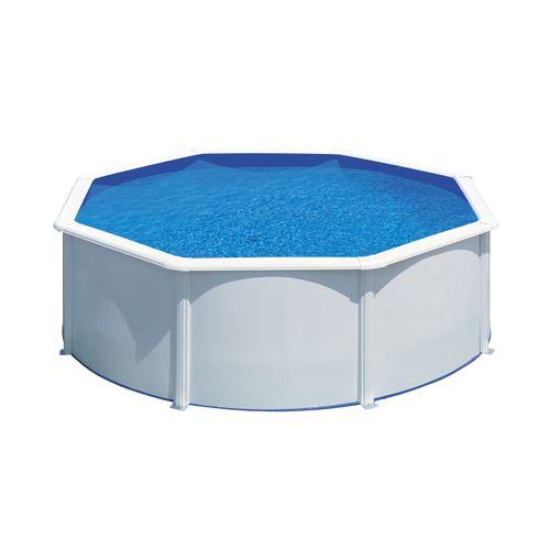 Gre zwembad Fidji rond staal wit Ø370x122cm