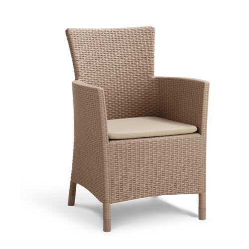 Chaise de jardin Alibert Iowa cappuccino
