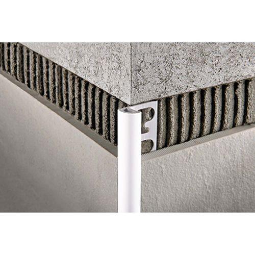 Profilé Progress profiles 'Projolly' gris ciment 12,5 mm 270 cm