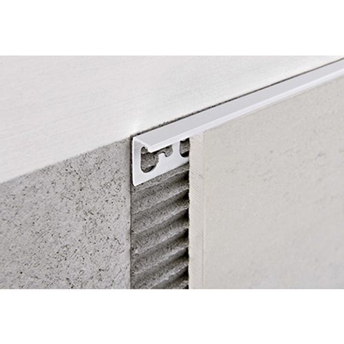 Profilé Progress profiles 'Proterminal' blanc 12,5 mm 270 cm carré