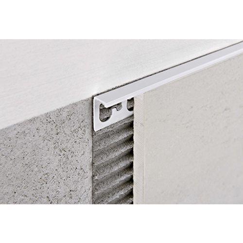 Profilé Progress profiles 'Proterminal' gris 12,5 mm 270 cm carré