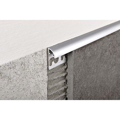 Profilé Progress profiles 'Projolly' aluminium 12,5 mm 270 cm rond
