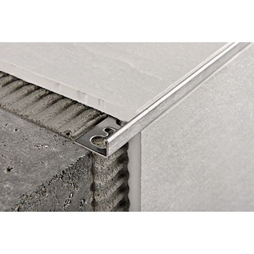 Profilé Progress profiles 'Proterminal' inox 8 mm 270 cm carré