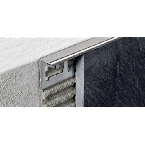 Profilé Progress profiles 'Proterminal' inox 12,5 mm 270 cm carré