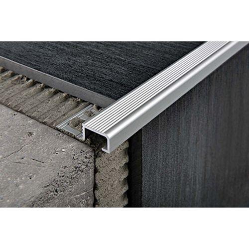 Nez de marche Progress profiles 'Probrastep' aluminium 12,5 mm 270 cm