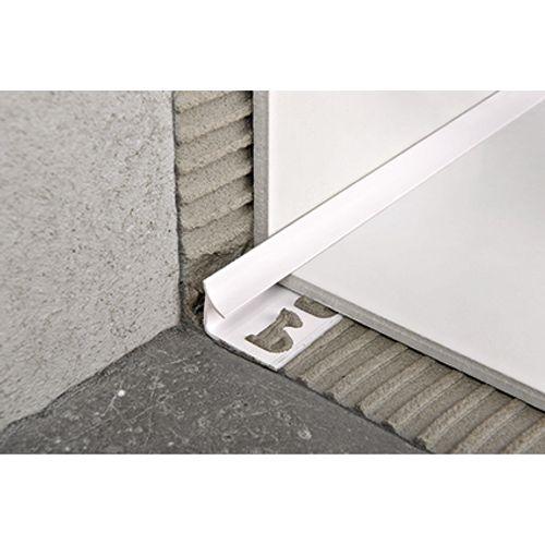 Profilé raccord Progress profiles 'Prointer' blanc 8 mm 270 cm angle