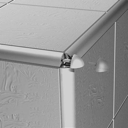 Capsules Progress profiles 'Projolly' 10 mm gris extérieur