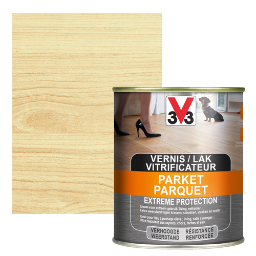 Vitrificateur parquet V33 Extreme Protection inColore brillant 750ml